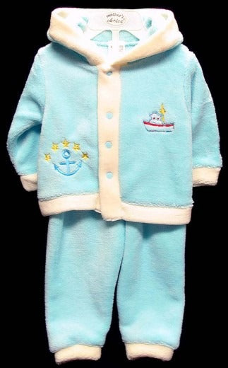 BOYS CORAL FLEECE TRACKSUIT BOAT