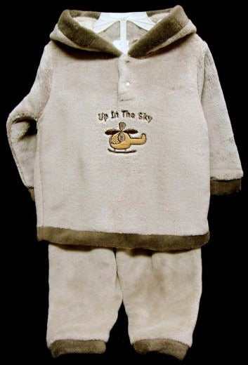 INFANTS CORAL FLEECE TRACKSUIT UP IN THE SKY