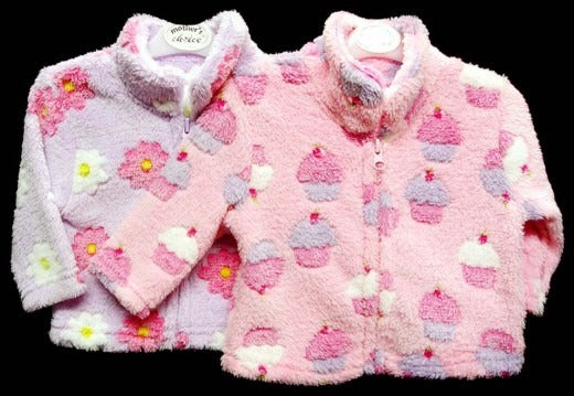GIRLS UNHOODED JACKET - Cupcakes (right)