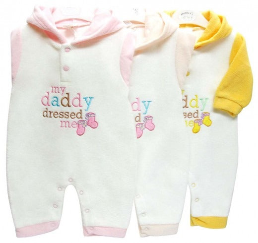 HOODED POLAR FLEECE GROWERS MY DADDY DRESSED ME - YELLOW
