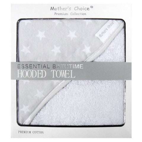 ESSENTIAL BATHTIME HOODED TOWEL 'STARS'