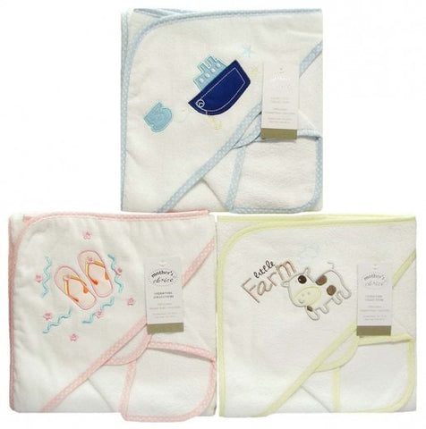 100% COTTON HOODED TOWEL & FACECLOTH SET