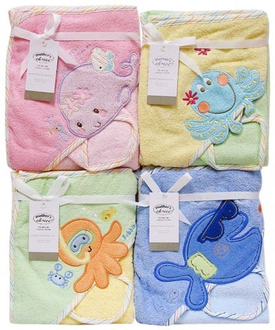 HOODED TOWEL AND FACECLOTH SEA CREATURES