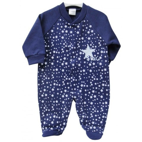 INFANT GROWER WITH BRUSHED INNER 'NAVY-STARS'