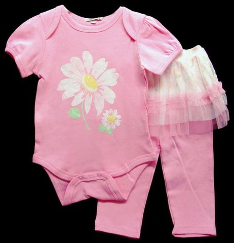 100% COTTON INTERLOCK 2PC GIRLS SET 'FLOWER'