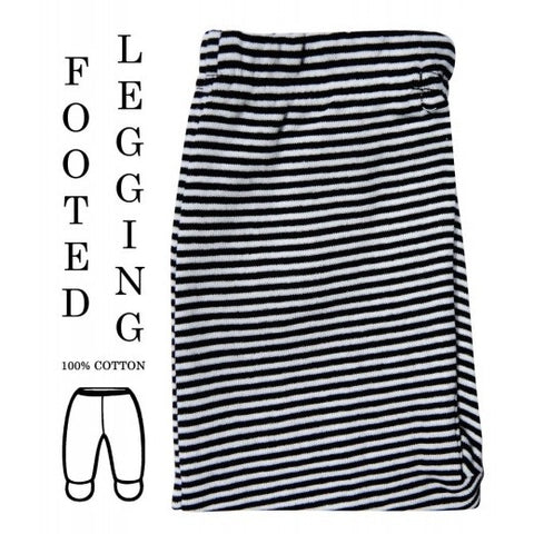 100% COTTON LEGGINGS 'BLACK PIN STRIPE'