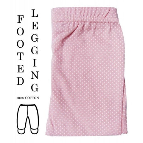 100% COTTON LEGGINGS 'CERISE POLKA'