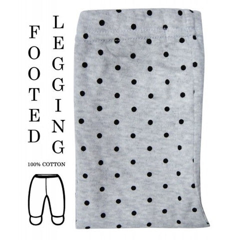 100% COTTON LEGGINGS 'GREY DOTS'