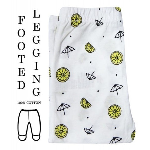 100% COTTON LEGGINGS 'WHITE LEMON'