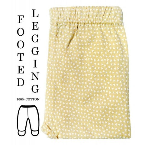 100% COTTON LEGGINGS 'YELLOW TRIANGLES'