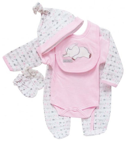 GIRLS 5PC STARTER SET PINK/GREY