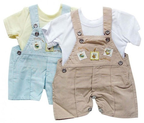 INFANTS DUNGAREE & T SHIRT HELLO