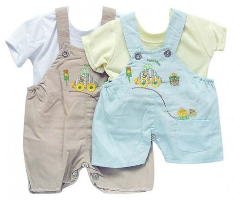 INFANTS DUNGAREE & T SHIRT CAR