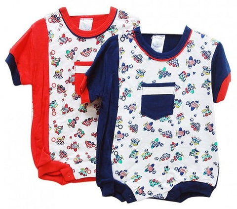 INFANTS ROMPERS CARS/TRAINS/PLANES