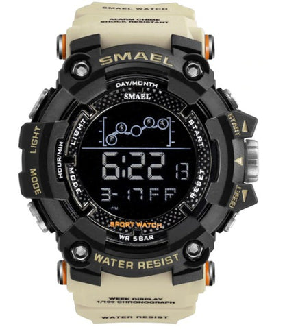 Smael Digital Analog Watch Model 1802 - Khaki