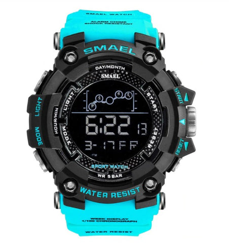 Smael Digital Analog Watch Model 1802 - Light Blue
