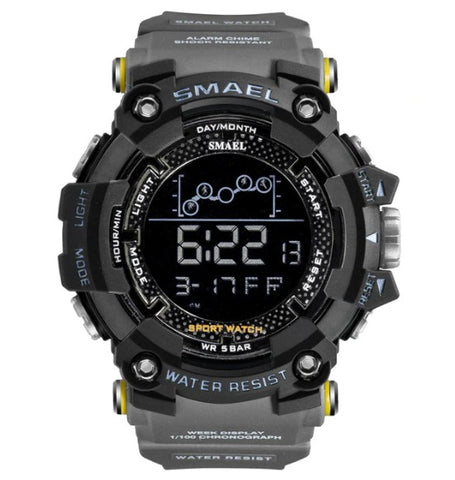 Smael Digital Analog Watch Model 1802 - Grey