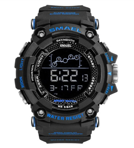 Smael Digital Analog Watch Model 1802 - Black Blue