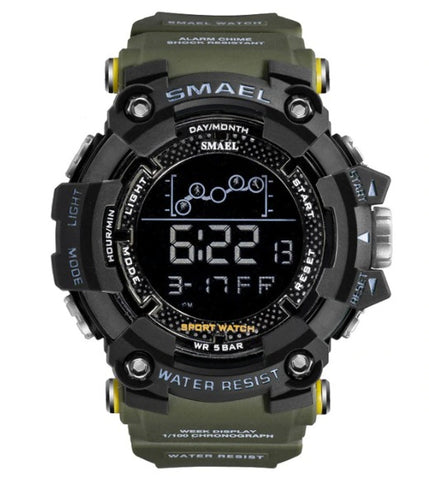 Smael Digital Analog Watch Model 1802 - Army Green