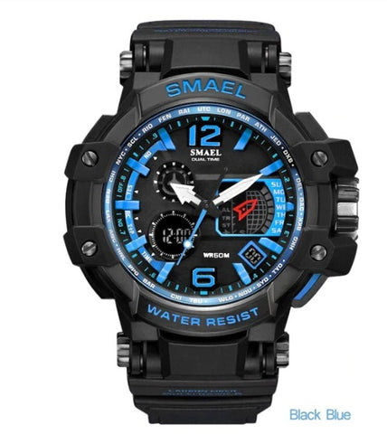 Smael Multifunctional Digital Analog Watch Model 1509 - Black Blue