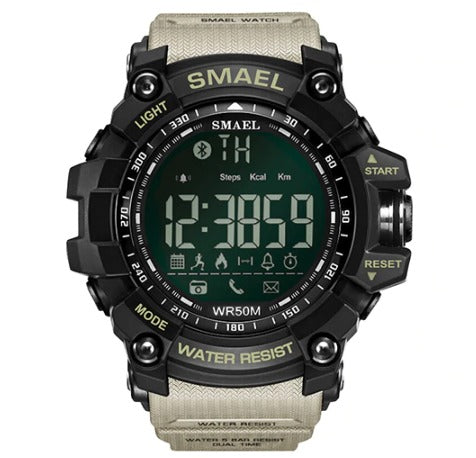 Smael Multifunctional Bluetooth Watch - Khaki