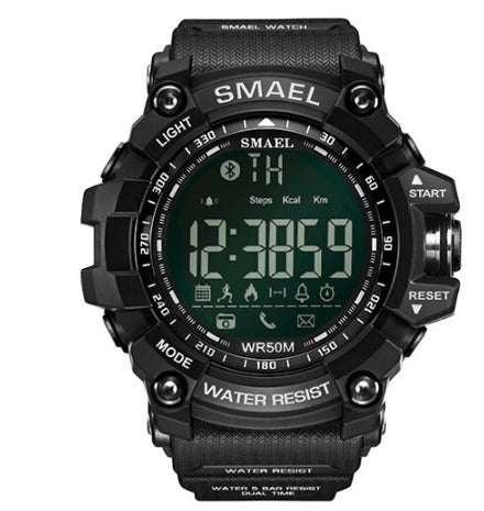 Smael Multifunctional Bluetooth Watch - Black