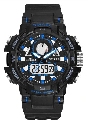 Smael Ladies Multifunctional Digital Analog Watch Model 1557 - Black Blue