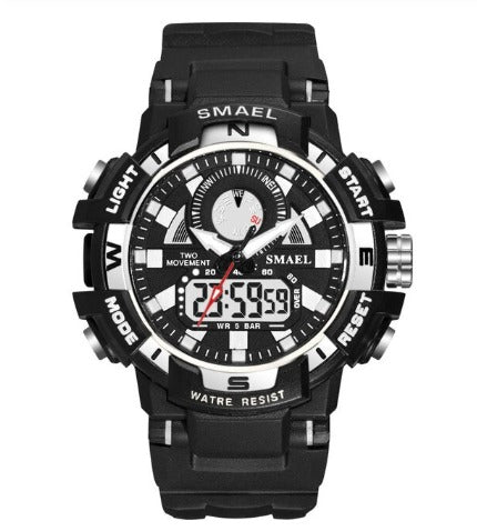 Smael Ladies Multifunctional Digital Analog Watch Model 1557 - Black White