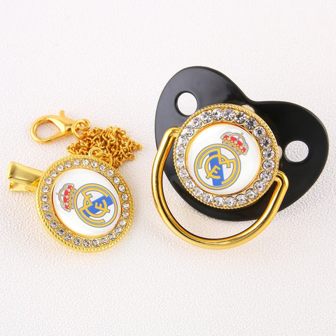 Baby Bling Dummy Pacifier - Real Madrid Black