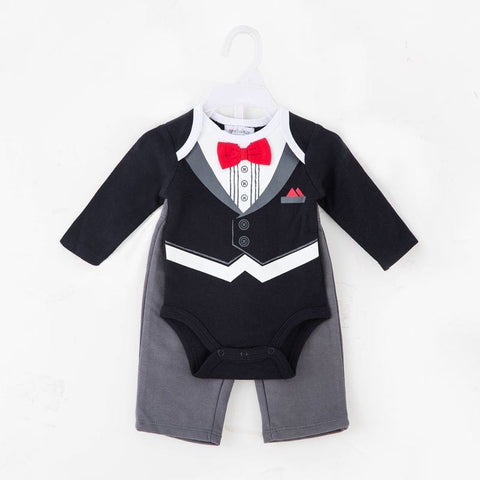 BOYS 2PC BODYSUIT AND PANTS - TUXEDO