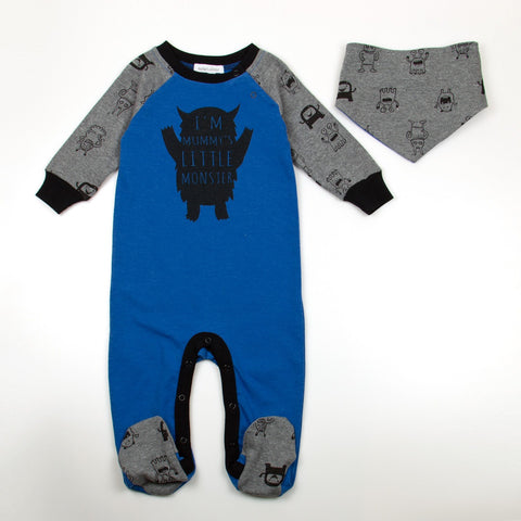 BOYS 2PC SET - IM MUMMYS LITTLE MONSTER