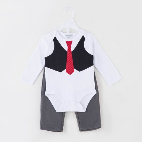 BOYS 2PC BODYSUIT AND PANTS - SUIT