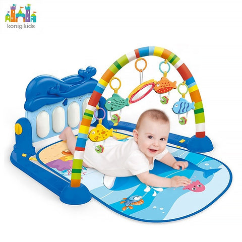 Piano Fitness Play Mat - Blue