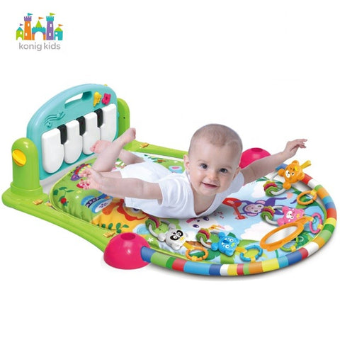 Multifunctional Piano Fitness Play Mat - Green