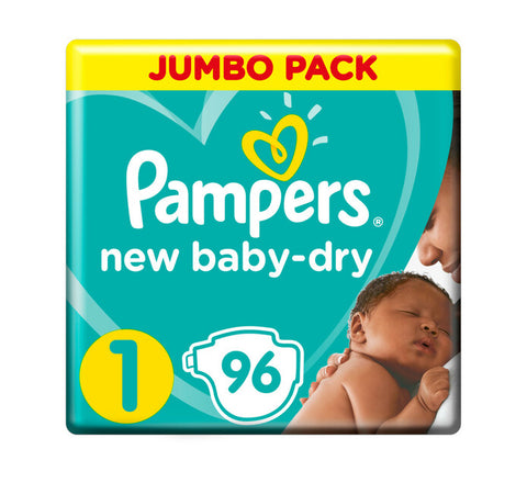 Pampers New Baby Dry Jumbo Pack Size 1