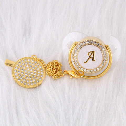 Baby Bling Dummy Pacifier - Letters