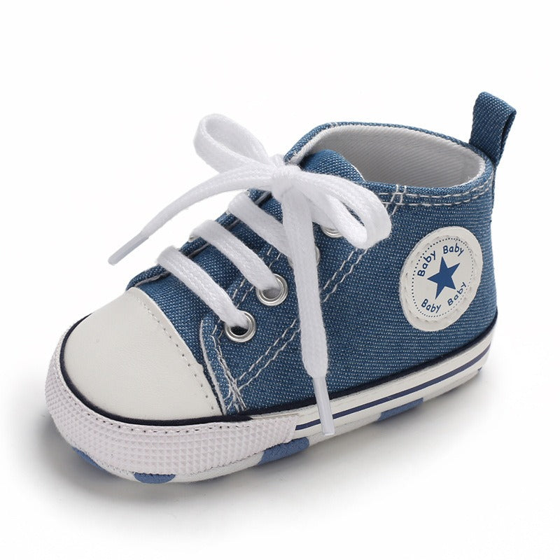 Infants Anti-slip Canvas Sneaker - Blue