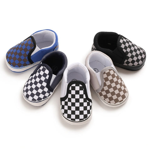 Infants Chekered Breathable Slip on - 5 colours