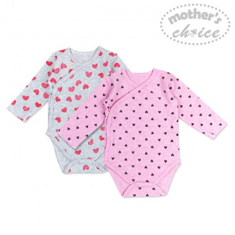 2 PACK BODYSUITS - HEARTS