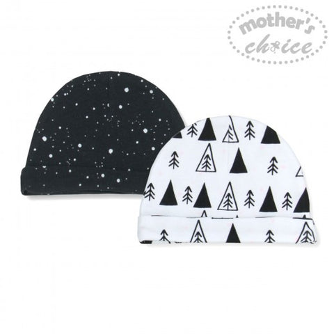 2 PACK BEANIE SETS - DOTS