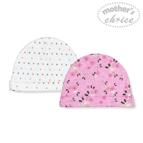 2 PACK BEANIE SETS - FLOWER