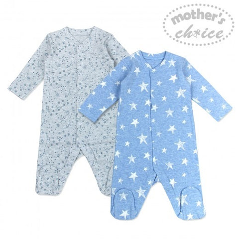 2 PACK BABYGROWS - STAR