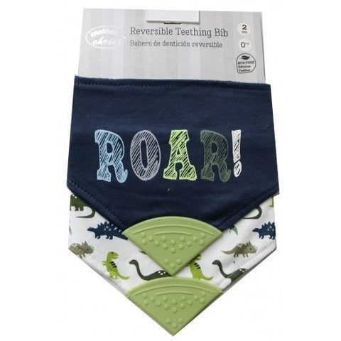 2 PACK BANDANA TEETHER BIB 'ROAR'