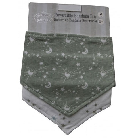 2 PACK BANDANA BIB 'SPACE'