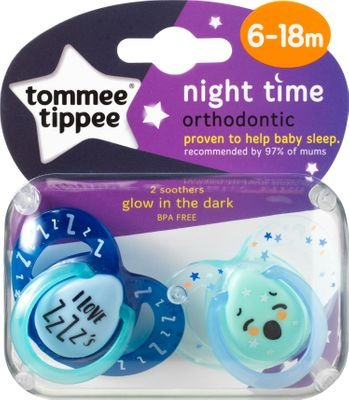 Tommee Tippee Closer to Nature Night Soother 6-18months boys