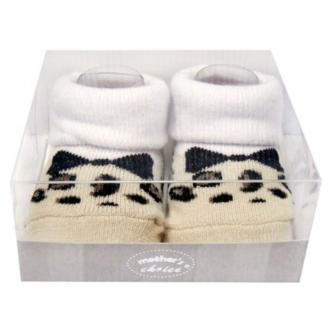 INFANT GIRLS BOX SOCKS 'LEOPARD'