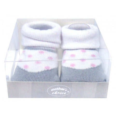 INFANT GIRLS BOX SOCKS 'POLKA DOT'