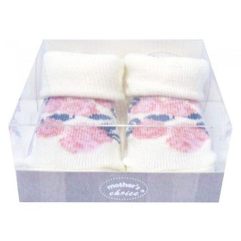 INFANT GIRLS BOX SOCKS 'FLOWER'