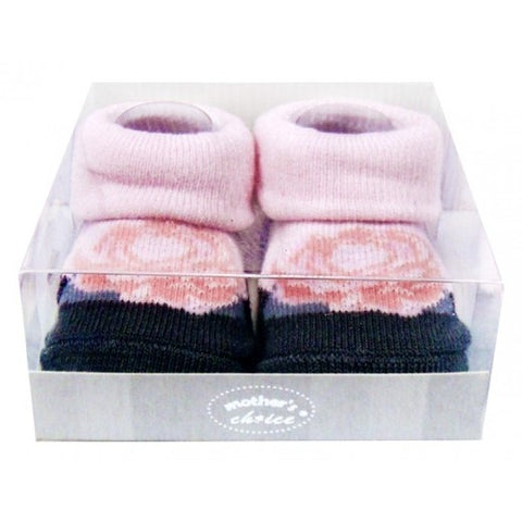 INFANT GIRLS BOX SOCKS 'PINK ROSE'