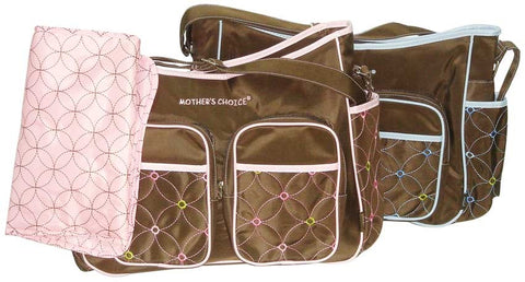 Mothers Choice Nappy Bag With Changing Mat - Pink